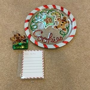 Other - Dear Santa note cards w holder and cookie plate